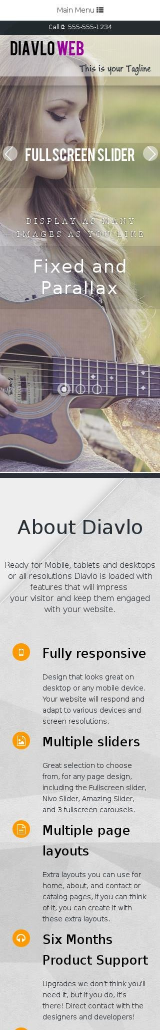Mobile: Music Web Template