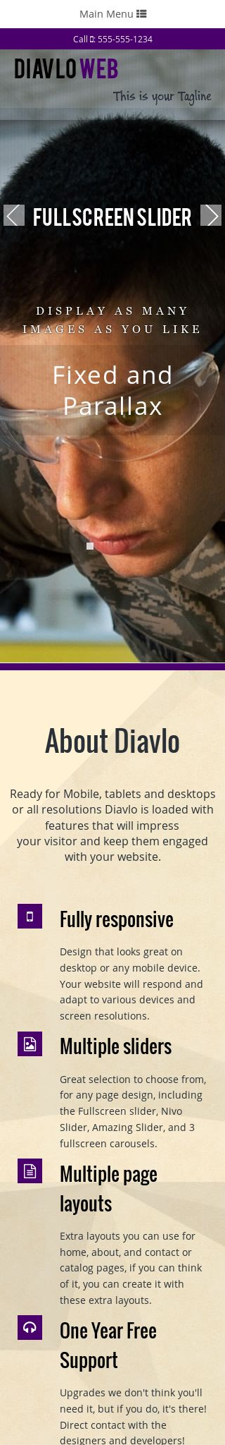 Mobile: Construction Web Template