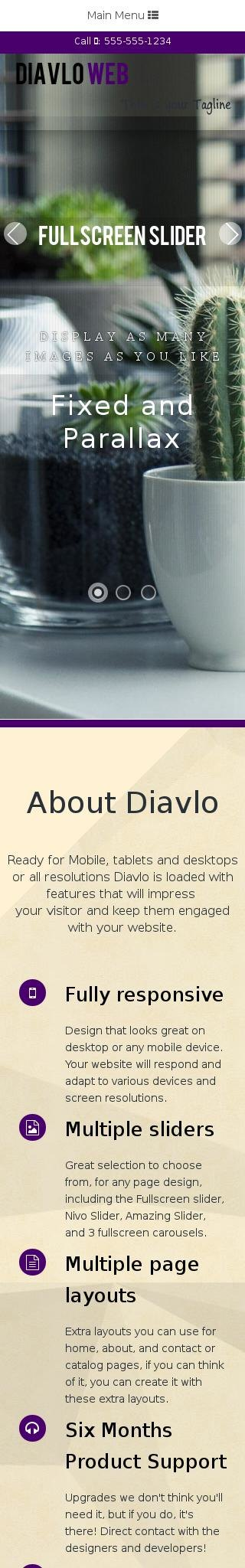 Mobile: Interior-design Web Template