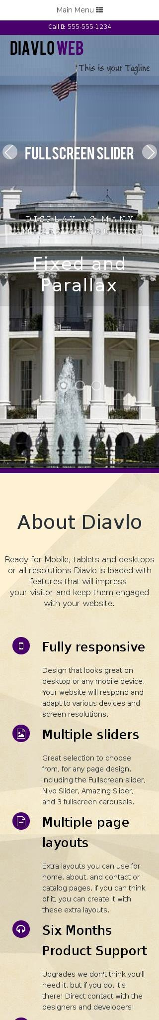 Mobile: Patriotic Web Template
