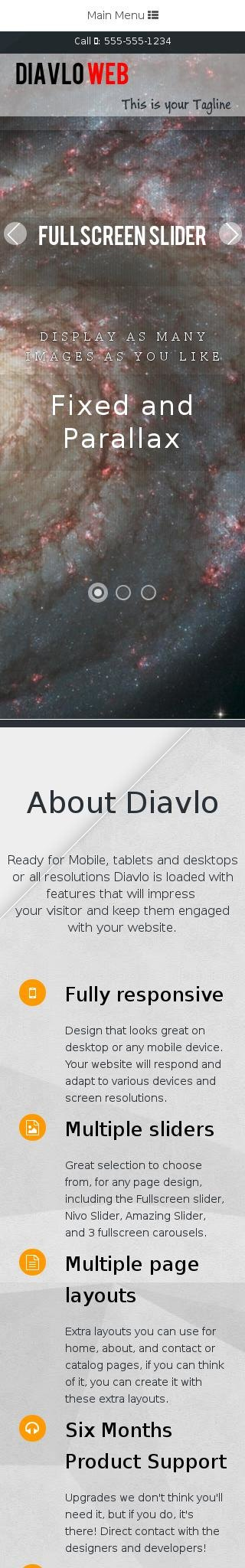 Mobile: Astronomy Web Template