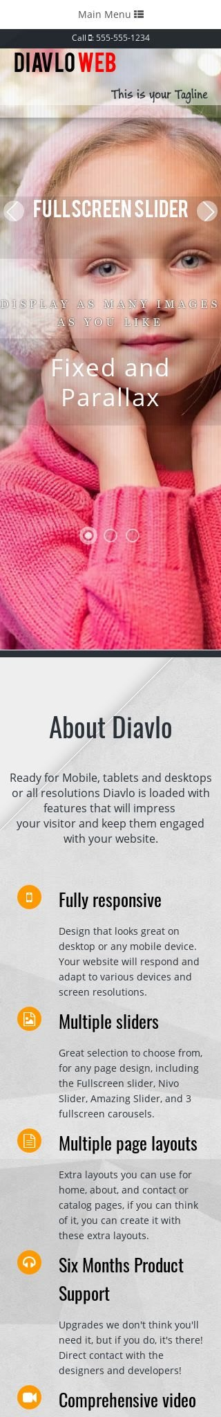 Mobile: Christmas Web Template
