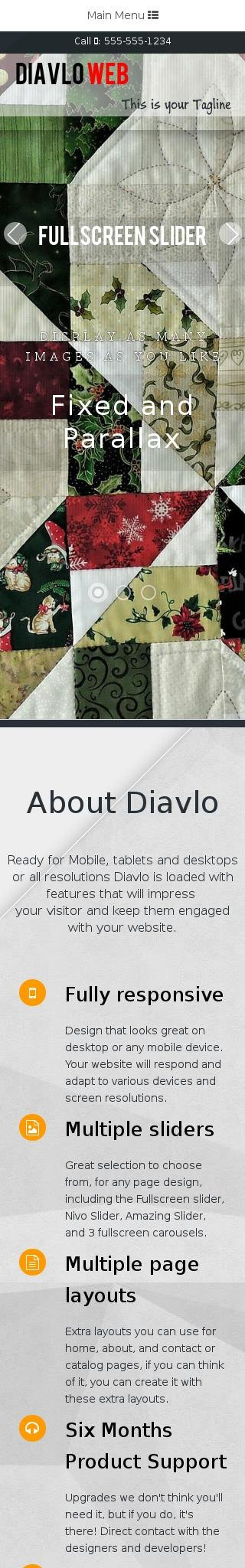Mobile: Quilting Web Template