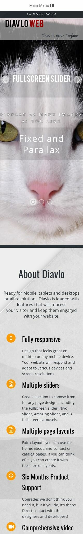 Mobile: Cats Dreamweaver Template