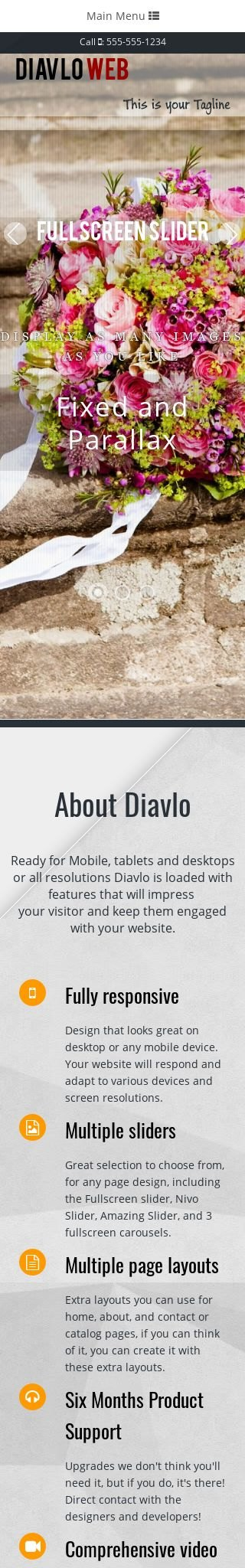 Mobile: Floral Dreamweaver Template