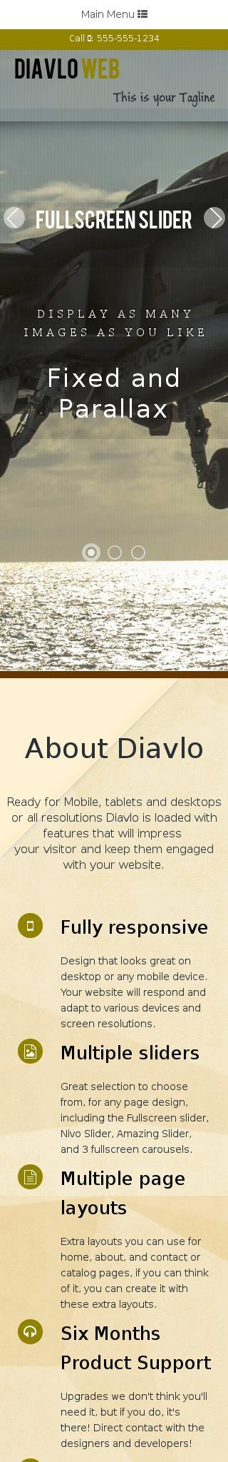 Mobile: Aviation Web Template