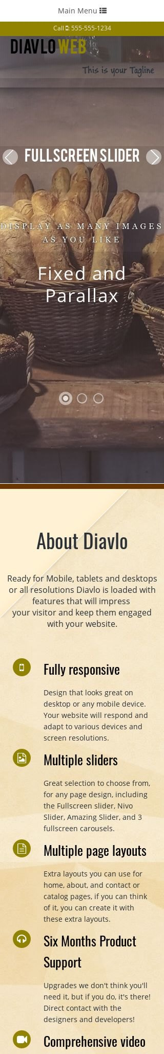 Mobile: Bakery Dreamweaver Template