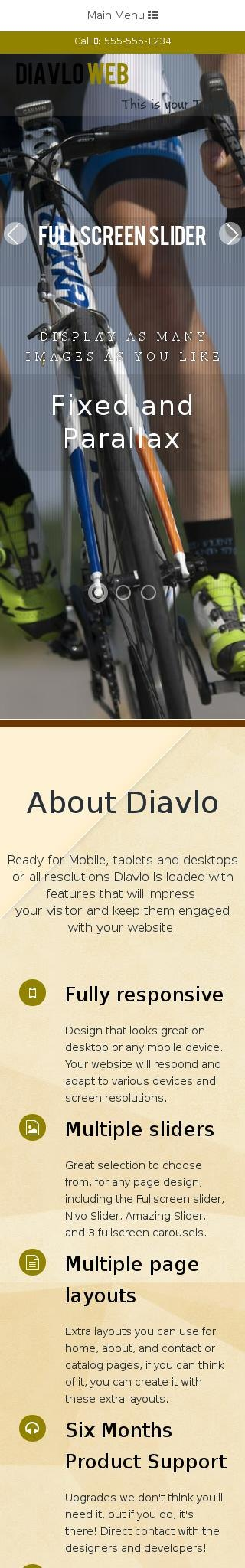 Mobile: Cycling Web Template