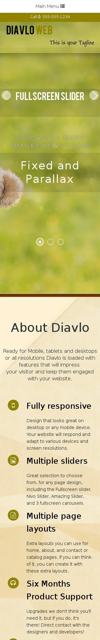Mobile: Nature Web Template