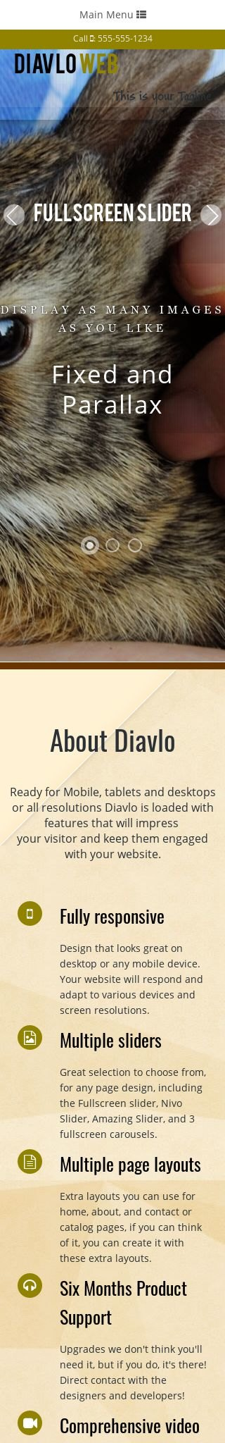 Mobile: Pet-store Web Template