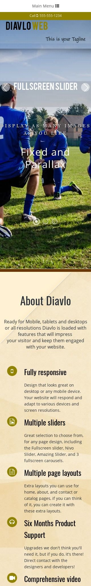 Mobile: Soccer Dreamweaver Template