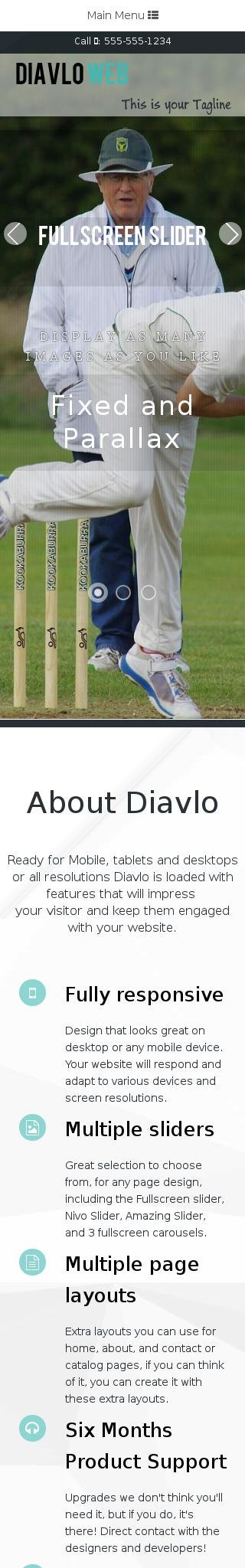 Mobile: Cricket Dreamweaver Template