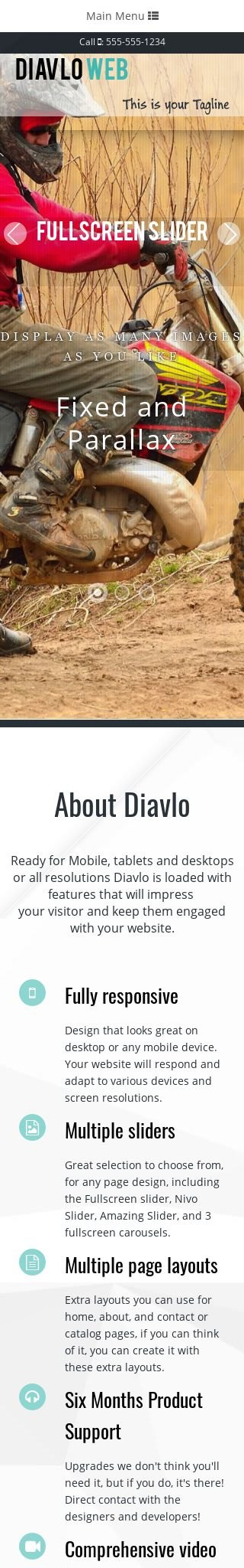 Mobile: Motocross Dreamweaver Template