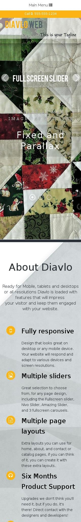 Mobile: Quilting Dreamweaver Template