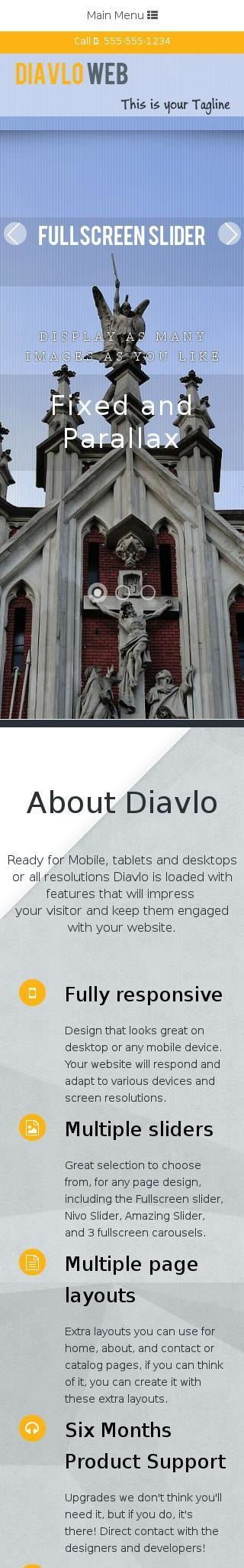 Mobile: Religion Dreamweaver Template