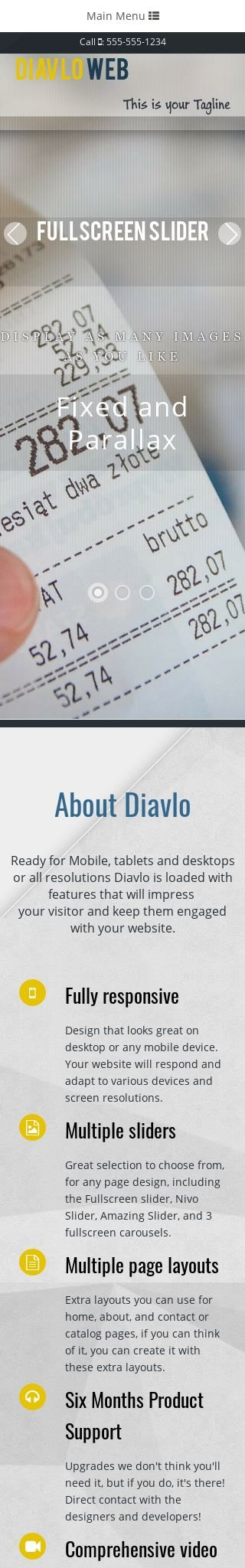 Mobile: Accounting Web Template