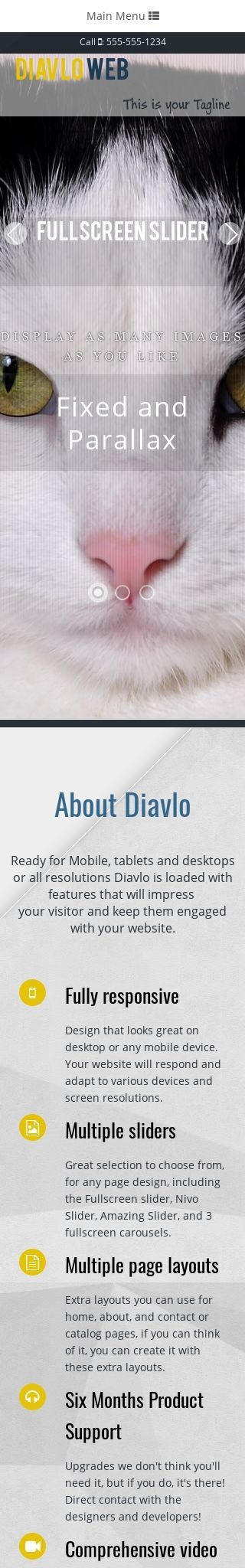 Mobile: Cats Web Template