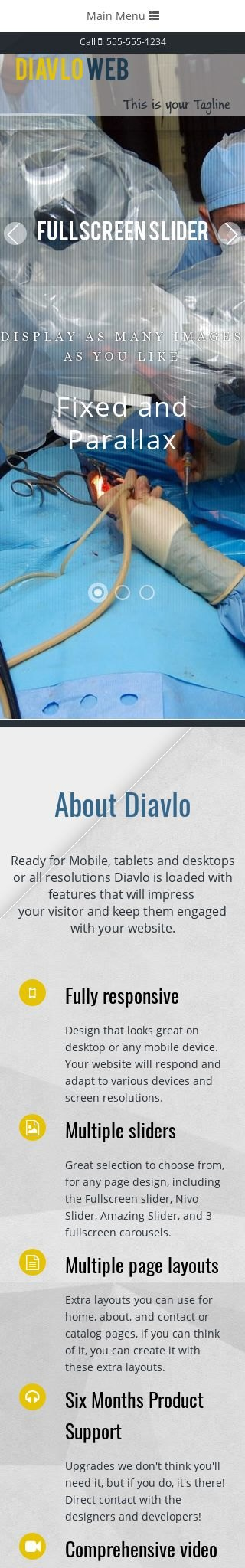 Mobile: Medical Web Template