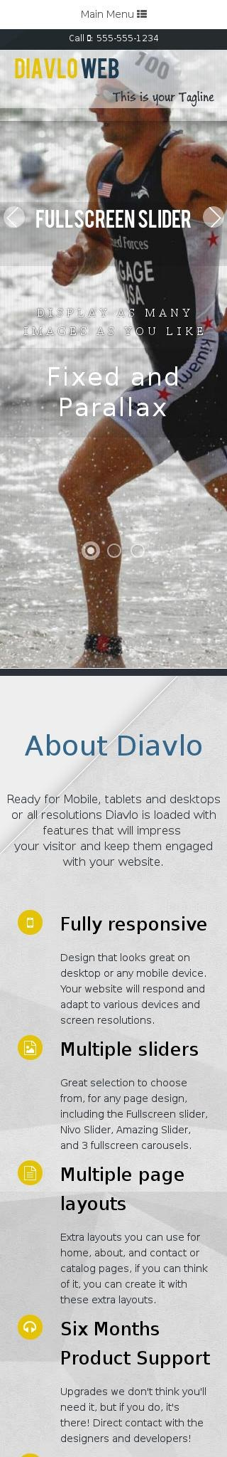 Mobile: Running Web Template