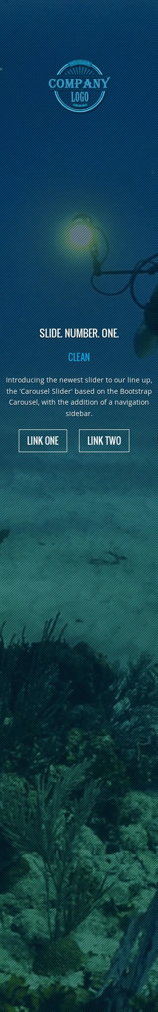Mobile: Scuba-diving Wordpress Theme