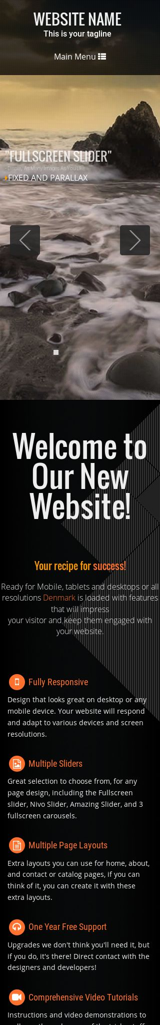 Mobile: Multi-purpose Web Template