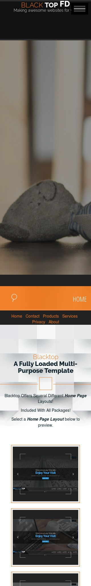 Mobile: Dogs Web Template