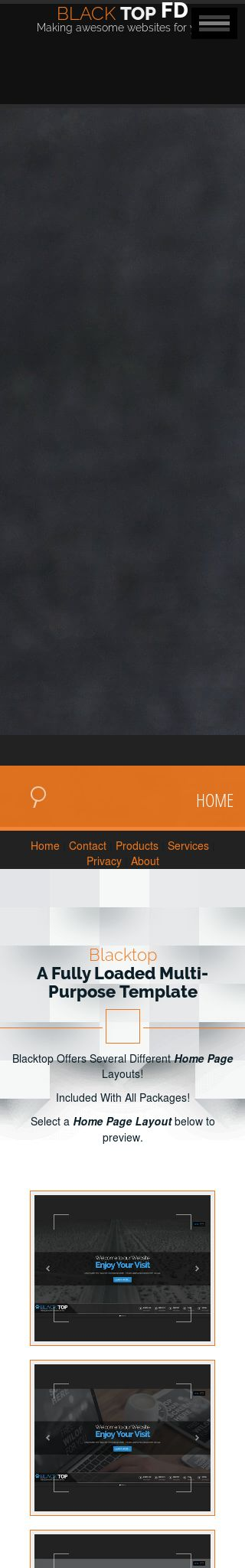 Mobile: Paintball Web Template