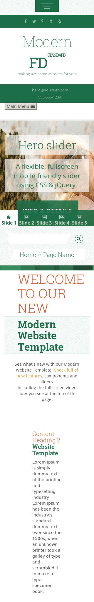Mobile: Golf Web Template