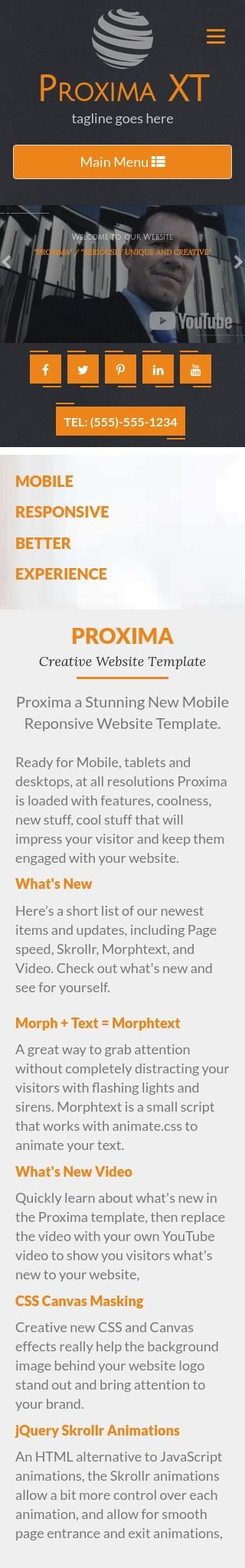 Mobile: Accounting Frontpage Template