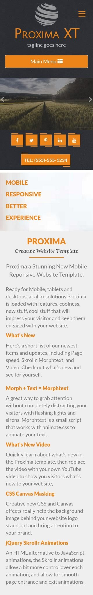 Mobile: Agriculture Web Template
