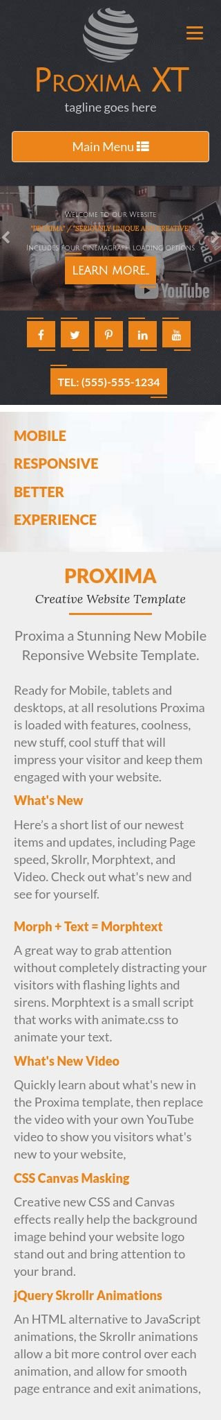 Mobile: Real-estate Web Template