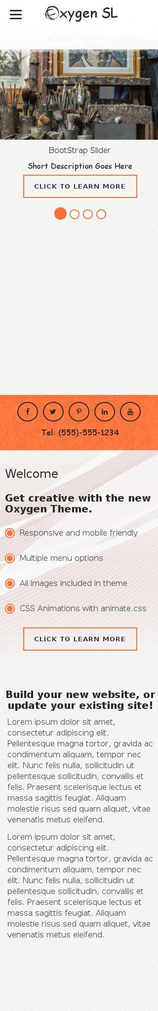 Mobile: Art-supplies Web Template