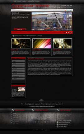 Foundation Construction Website Template