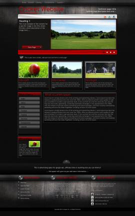 Foundation Cricket Website Template