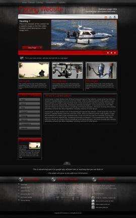 Foundation Fishing Website Template