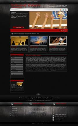 Foundation Volleyball Website Template
