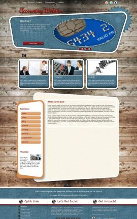 Retro Accounting Website Template