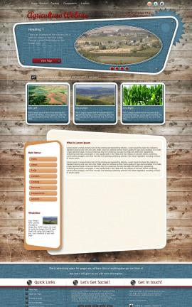 Retro Agriculture Website Template