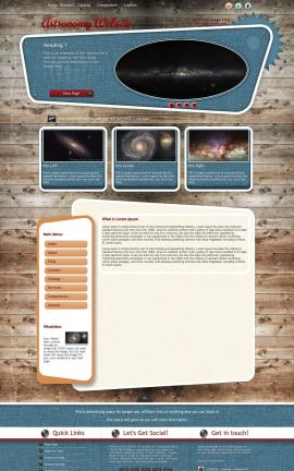 Retro Astronomy Website Template