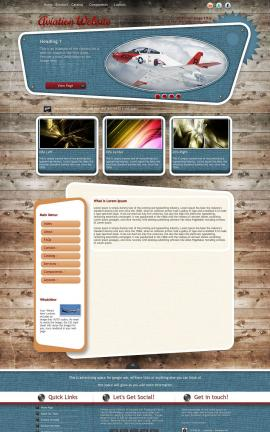 Retro Aviation Dreamweaver Template