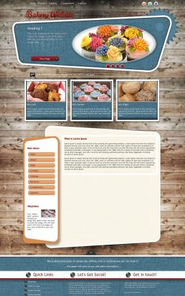 Retro Bakery Website Template