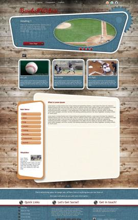 Retro Baseball Website Template