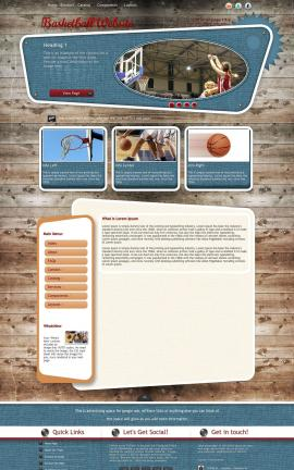Retro Basketball Website Template