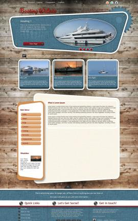 Retro Boating Website Template
