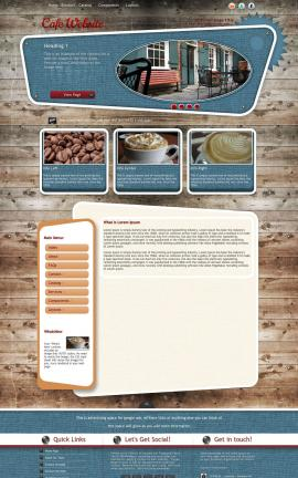 Retro Cafe Website Template
