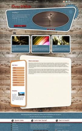 Retro Dance Website Template