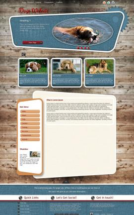 Retro Dogs Website Template