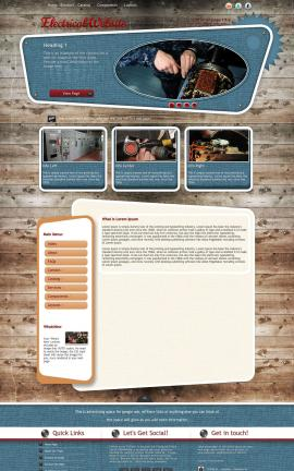 Retro Electrical Website Template