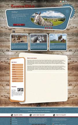 Retro Equestrian Website Template
