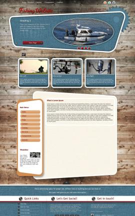 Retro Fishing Website Template